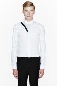 Kenzo White Trompe L'oeil Shirt for men | SSENSE