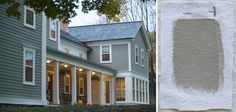 Shades of gray: Architects choose the 10 best gray exterior colors - Gardenista Best exterior gray house colors, Benjamin Moore Sag Harbor Gray, Gardenista Exterior Gray Paint, Exterior Color Schemes, House Paint Exterior, Exterior House Colors, Exterior Design, Exterior Shades, Siding Colors, Grey House Paint, Outdoor House Paint