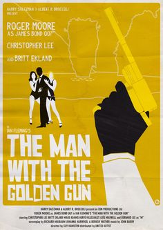 The Man with the Golden Gun - movie poster - Alain Bossuyt