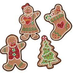 NEW RAZ Imports Ornaments 8 Inch Gingerbread boy girl stocking tree GJ 3001425