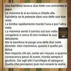 Una bambina teneva due mele con entrambe le mani. Italian Phrases, Italian Quotes, Wise Quotes, Words Quotes, Inspirational Quotes, Life Rules, Some Words, Happy Life, Sentences