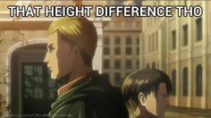 ~ I'm starting to call one of my short teachers Levi because he's the shortest male teacher and almost all the students are taller than him. The awesome thing is he's seen Attack on Titan so he's just like: -__- I can't kill her. I like my job. I like my job.