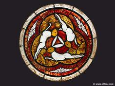 Rabbits - Stained glass window made by WITRAZEs.c. Studio in Warsaw, Poland www.witraze.info