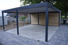 Design metall carport aus holz stahl mit abstellraum nürnberg
