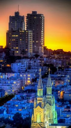 Sunset.. Telegraph Hill ~ San Francisco, California, U.S | Flickr - Photo by Mike Filippoff