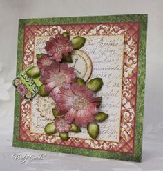 Card made using Heartfelt Creations Stamps, papers and dies from the Majestic Morning collection.