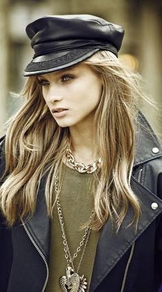 Leathered up in winter - Anna Selezneva