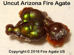 An all natural uncut Fire Agate gemstone that was was mined in Arizona. Rocks And Gems, Rocks And Minerals, Agate Jewelry, Agates, Agate Gemstone, Opals, Fossils, Geology, Arizona