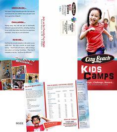 Marketing Brochure for City Beach Kids Camp : Copywriting & Design