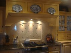French Country Kitchen Blue And Yellow french country blue and yellow kitchen, this kitchen re-do was the