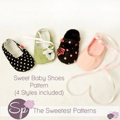 Baby Shoes Booties pattern tutorial PDF DIY by thesweetestpatterns