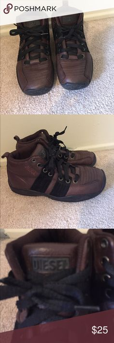 Diesel Men's Boots size 8.5 Diesel Men's boots in brown and black size 8.5. Only worn a few times. Athletic hiking boot style sole. Diesel Shoes Boots