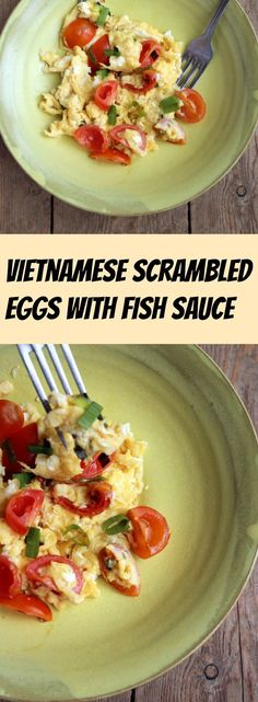 The humble scrambled egg gets an asian-style makeover that will knock your socks off: Vietnamese scrambled eggs with fish sauce is a true taste revelation.