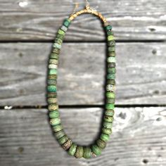 Rare Antique Strand of rare green African Hebron Trade Beads. Vintage Green African Trade Beads - In store pick up only Seaside Home Decor, African Trade Beads, Rare Antique, Vintage Green, Artisan, Beaded Necklace, Antiques, Bracelets, Jewelry