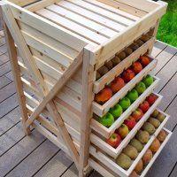 petit meuble rangement pour fruits et l gumes caisse en. Black Bedroom Furniture Sets. Home Design Ideas