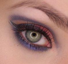 JaŚniutka   makijaż, recenzje : Fioletowy makijaż oczu