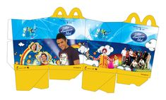Mcdonalds Happy Meal Box for dolls Kawaii Disney, Barbie Food, Doll Food, Happy Meal Box, Mcdonald Menu, Food Template, Templates, Fast Food Menu, Bakery Packaging
