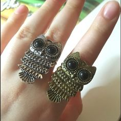 NWT Silver Retro Freesize Owl Ring Another one for our ANIMAL LOVERSMade from Zinc Alloy, this cute owl ring fits all sizes. The surface width is 16mm. Only silver available just like the one in thw picture. Feel free to ask me any questions. 25 % off on 3+ bundles, save money on shipping fee. Thank you and namaste  Jewelry Rings
