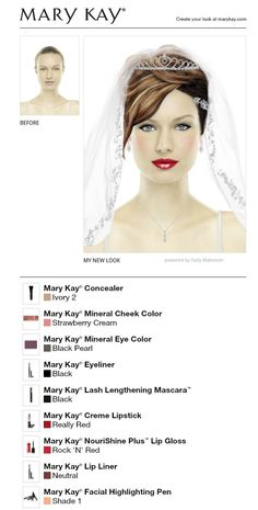 I just made a wedding look on my Mary Kay app