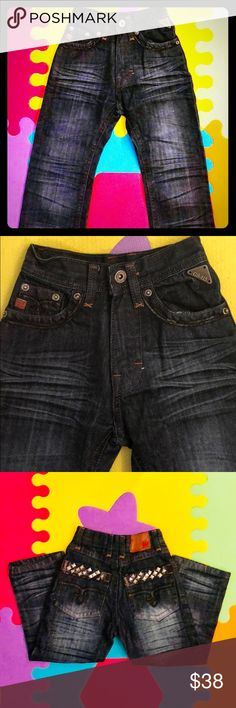 Fashion Forward Studded Denim Fashion Forward, Edgy Studded Denim. Brand new without tags. Size 4T. Perfect for editorial, family photo sessions, bday parties etc. Your toddler will be making a statement all their own. Bottoms Jeans