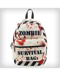 The Walking Dead Zombie Survival Backpack. i think this would be cool to put a 72hr kit in lol