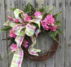 Spring / Summer Wreath Wreath Great for Spring by HornsHandmade