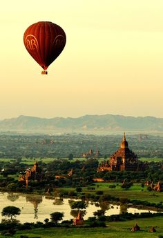 Hot air balloon ride over Bagan, Burma Places To Travel, Places To See, Wonderful Places, Beautiful Places, Into The West, Asia, To Infinity And Beyond, Belleza Natural, Adventure Is Out There