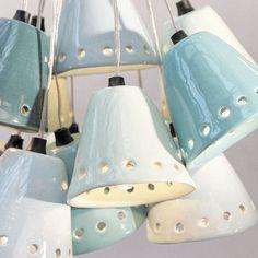 Gros C.R.U.S.H pour la suspension en céramique émaillée pastel d'Henriette…