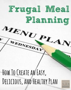 Does Meal Planning feel like an Olympic Sport? Here are some easy tip to create a Frugal Meal Plan you will actually use....via KansasCityMamas.com