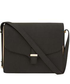 Victoria Beckham Black Harper Leather Bag