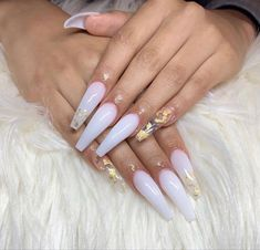 White Acrylic Nails, Summer Acrylic Nails, Best Acrylic Nails, Clear Acrylic, White Acrylics, Ballerina Acrylic Nails, Marble Nails, Spring Nails, Summer Nails