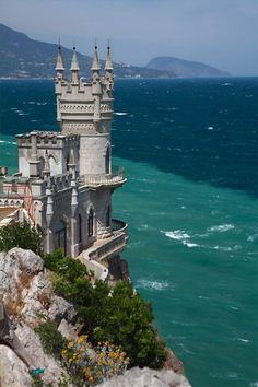 swallow's nest castle, crimea, ukraine.