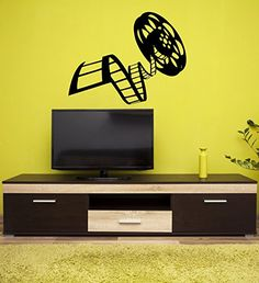 Wall Stickers Vinyl Decal Movie Reel Of Film Cinema Vintage (ig1606) (M 22.5 in X 35 in)