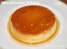 Flan is one of my favorite Mexican treats! I am looking forward to trying out this recipe, as the ready made mixes are more like pudding and less like a custard. Mexican Flan, Mexican Dishes, Mexican Food Recipes, Dessert Recipes, Cheesecake Recipes, Yummy Recipes, Epicure Recipes, Mexican Army, Cake