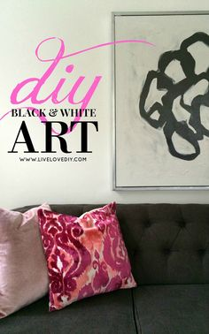 DIY Black & White Abstract Art | LiveLoveDIY