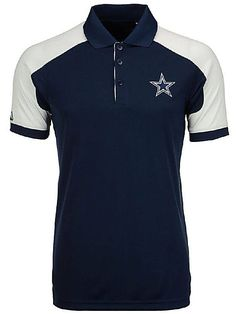 Dallas Cowboys Mens Navy Century Poly Synthetic Polo Shirt  64.95 Dallas  Cowboys Shirts 2f4fa9b8c