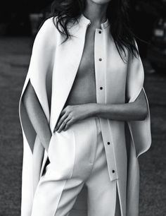 theideaofsimplicity:  inspiration for www.duefashion.com  carolina thaler in 'white' by laurence ellis for amica, sept 2013.