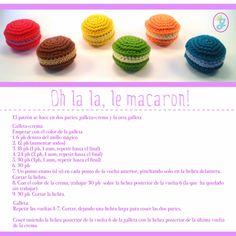 la ganchillería: patrón de macarons