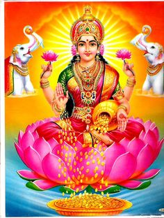 Lakshmi or Laxmi, is the Hindu goddess of wealth, fortune and prosperity. She is the wife and shakti (energy) of Vishnu, one of the principal deities of Hinduism and the Supreme Being in the Vaishnavism Tradition. With Parvati and Saraswati, she forms Tri Lakshmi Photos, Lakshmi Images, Durga Images, Doreen Virtue, Indiana, Image Hd, Goddess Lakshmi, Hindu Deities, Lord Ganesha