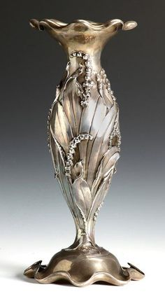 Sterling Art Nouveau Vase..