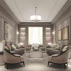 There are many elegant living room ideas that you might decide to get applied in your living room design. Because you have landed here then most probably you want Elegant living room answer. Elegant Living Room, Formal Living Rooms, Living Room Modern, Interior Design Living Room, Living Room Designs, Small Living, Classic Living Room, Cozy Living, Living Room Ideas Dubai