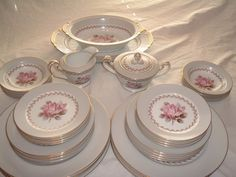 """NORITAKE CHINA ROSEMONT Pattern number 5048 by handymanhowto, $349.00 Check Out Our Vintage Shop. Save 15% at checkout.  Use Coupon Code """"SUMMER13"""". That's a saving on this item alone of $52.00 plus this item is currently qualified for free shipping in the US!"""
