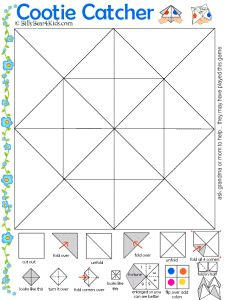 Cootie catcher Fortune Teller Template fun for vocabulary practice. My students make these anyway, so why not use them for vocab? Travel Activities, Activities For Kids, Crafts For Kids, Cootie Catcher Template, Vocabulary Practice, Thinking Day, School Counseling, Art Lessons, Road Trip