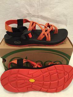 Womens Chaco Sandals ZX2 Yampa Vibram Rainbow Black Orange Size 8 New! #Chaco #SportSandals