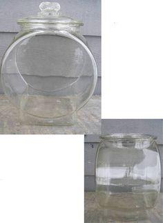 Antique Large Glass Planters Peanuts Store Counter Jar w Peanut Lid | eBay/Corn-Crib-Collectibles