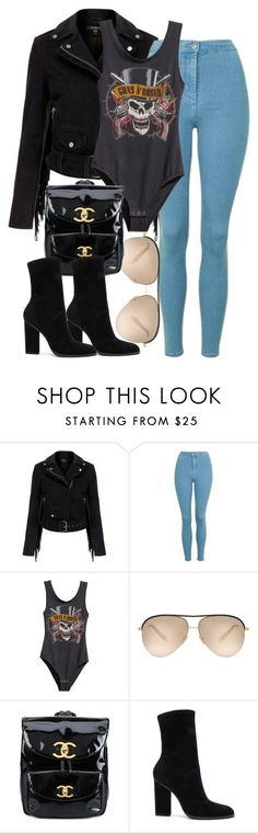 """""""Topshop x Chanel"""" by muddychip-797 ❤ liked on Polyvore featuring MuuBaa, Topshop, Victoria Beckham, Chanel, Alexander Wang, fashionset, meetings and Topshopstyle"""
