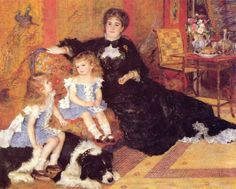 "Renoir ""Madame Georges Charpentier and her Children"" 1878"
