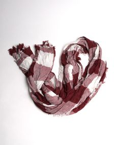 White and maroon checkered scarf. #AggieSpirit #AggieStyle #AggieGifts