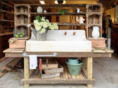 Kathrine Planting Table  Garden Potting by WildKingWoodworking