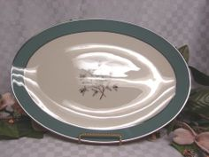 Lenox China Dinnerware Kingsley Pattern X445 Large oval serving platter